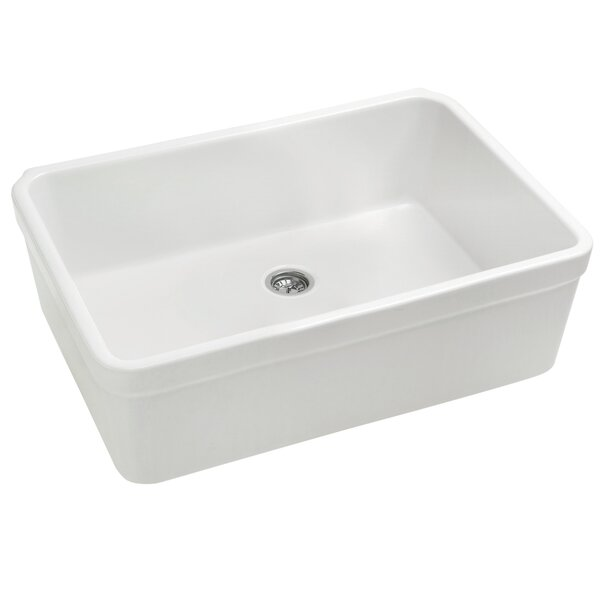 Basichaus 26 L x 20 W Non Reversible Fireclay Kitchen Sink by Whitehaus Collection