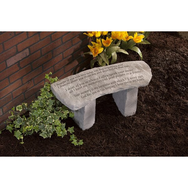 I Thought of You with Love Stone Garden Bench by Kay Berry, Inc