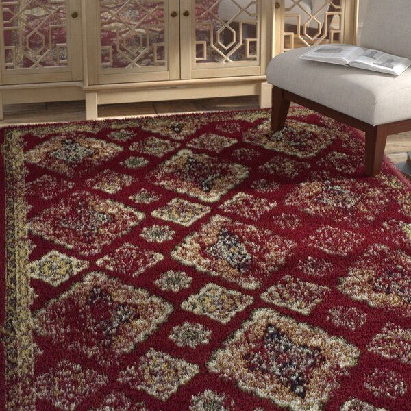 Chauntel Red Area Rug by Bungalow Rose