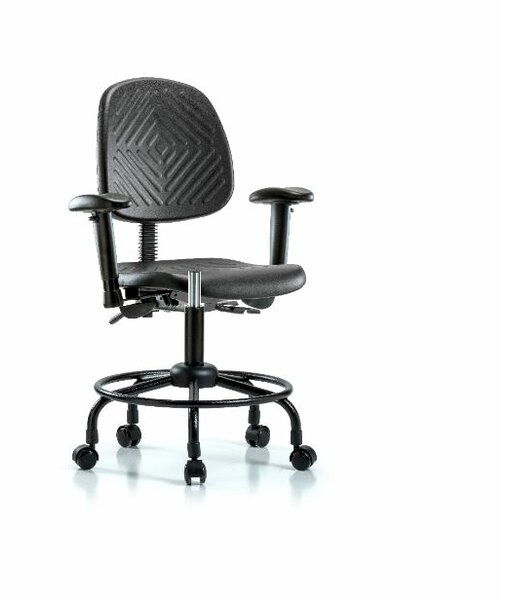 Abigayle Round Tube Base Desk Height Office Chair by Symple Stuff