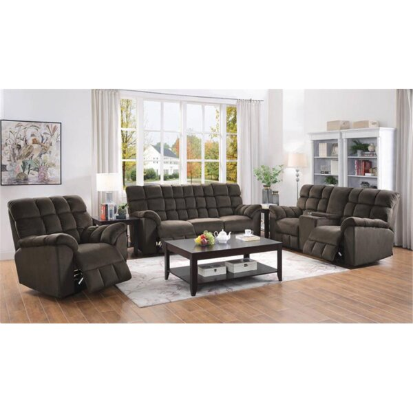 Navarra 3 Piece Reclining Living Room Set by Red Barrel Studio