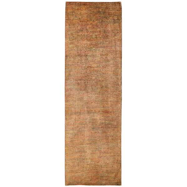 One-of-a-Kind Vibrance Hand-Knotted Brown Area Rug by Darya Rugs