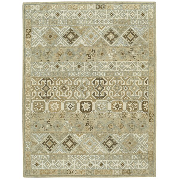 Smyrna Hand-Tufted Buff Area Rug by Capel Rugs