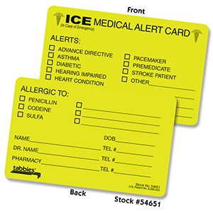 Emergency Information Cards