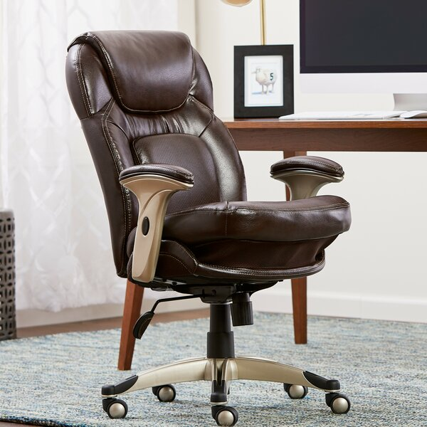 Back in Motion™ Health and Wellness Mid-Back Desk Chair by Serta at Home