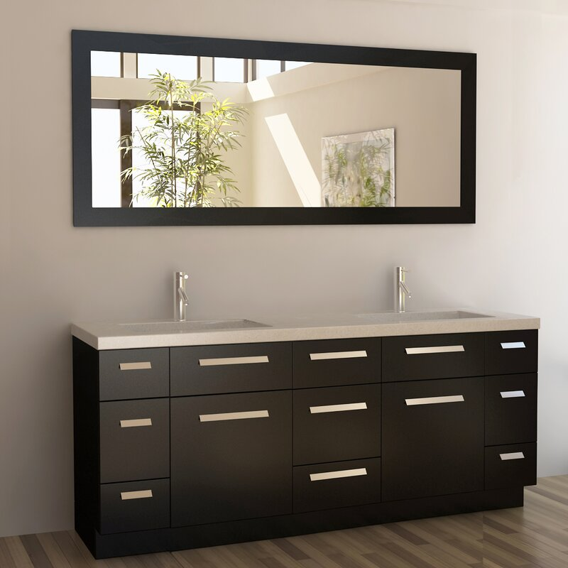 Arnette 72 Double Bathroom Vanity Set With Mirror