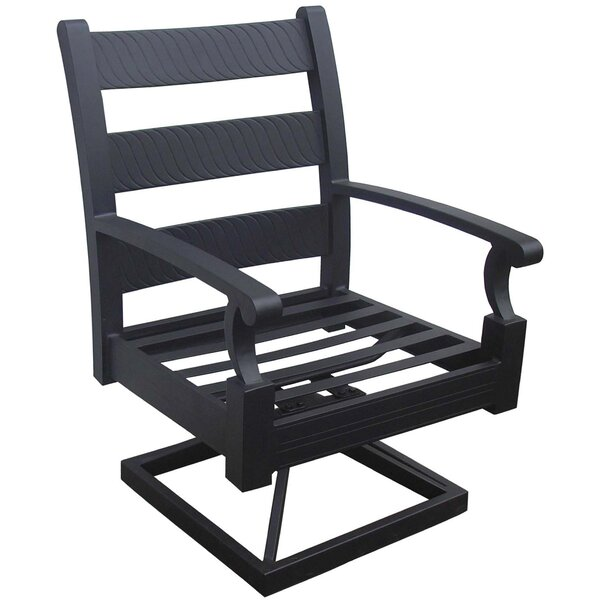 Manhattan Swivel Patio Dining Chair with Cushion (Set of 2) by California Outdoor Designs