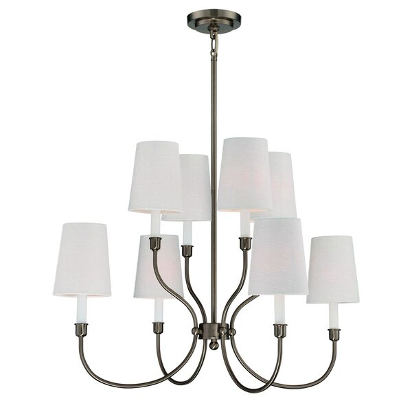 Potvin 8-Light Shaded Tiered Chandelier by Charlton Home Charlton Home