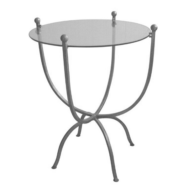 Carmel Metal and Glass End Table by Ivy Bronx