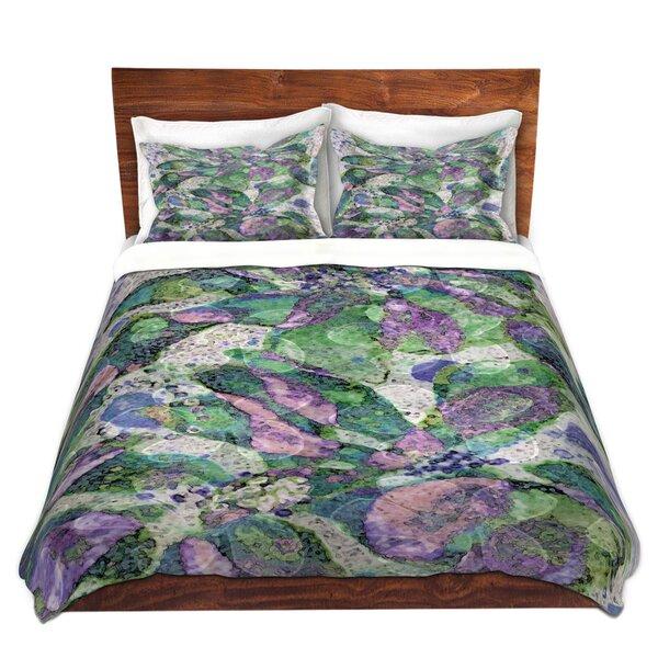 Mattox Ruth Palmer Purple Speckled Flowers Microfiber Duvet Covers