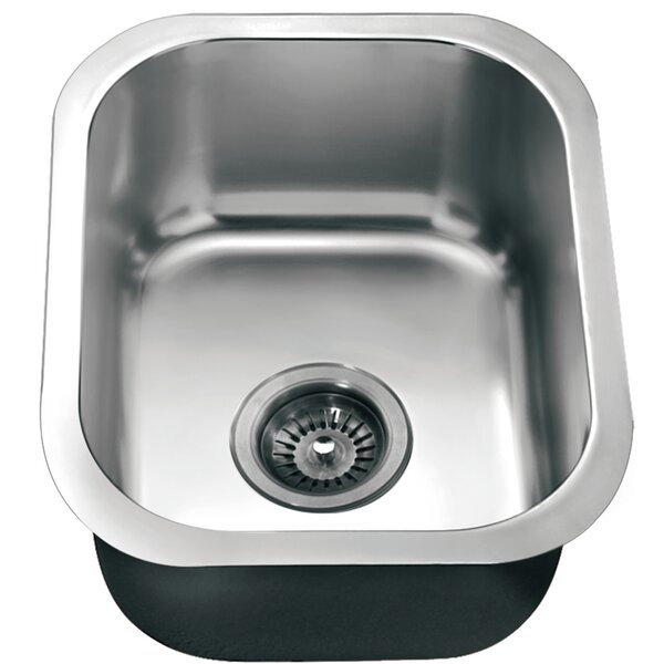17 L x 13.75 W Under Mount Single Bowl Kitchen Sink by Dawn USA