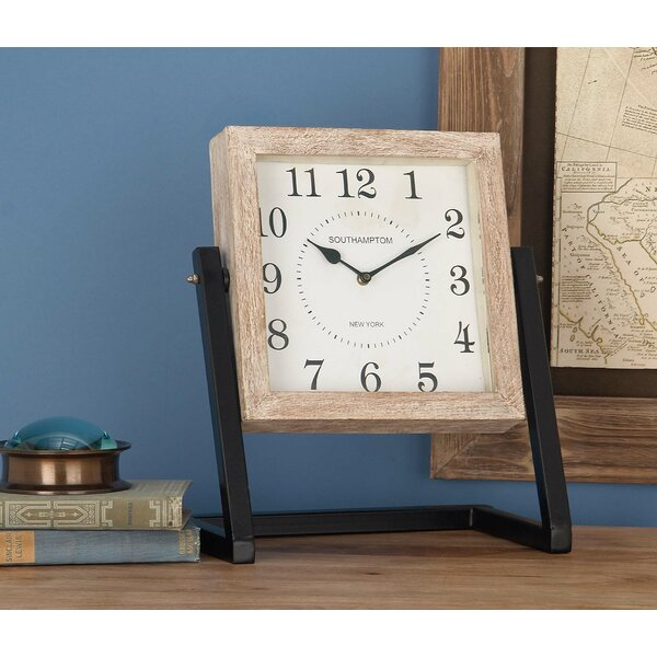 Metal/Wood Table Clock by Cole & Grey