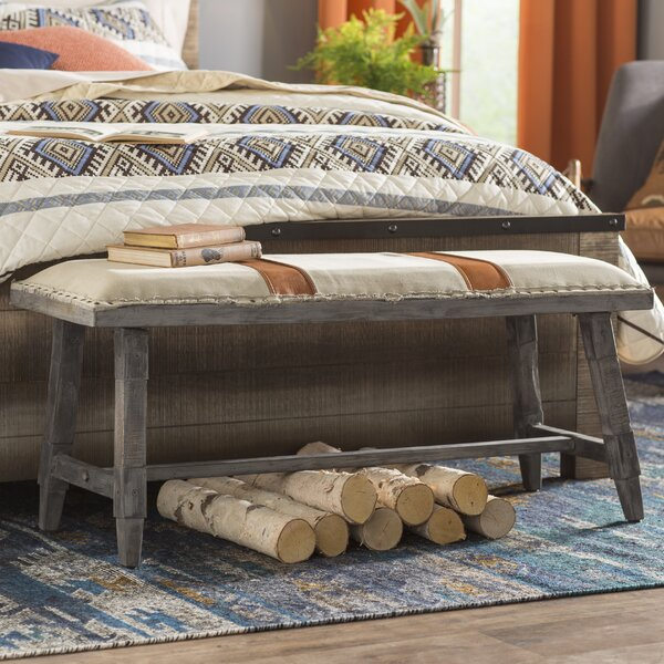 Phippsburg Upholstered Bench by Loon Peak