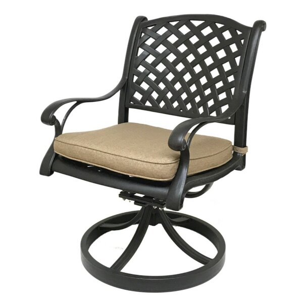 Beadle Patio Chair with Cushion (Set of 2) by Darby Home Co
