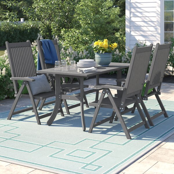 Shelbie 5 Piece Dining Set by Sol 72 Outdoor