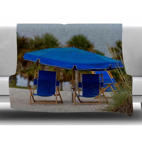 Ready to Relax by Angie Turner Fleece Blanket by East Urban Home
