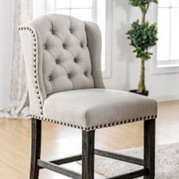 Duley Wingback Upholstered Dining Chair (Set of 2) by Gracie Oaks