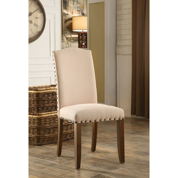 Barkley Linen Upholstered Parsons Chair In Brown (Set Of 2) By Ophelia & Co.