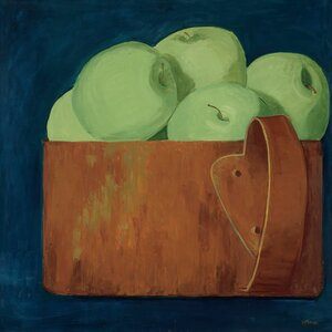 'Green Apples' by Judith Jarcho Painting Print on Canvas by GreenBox Art