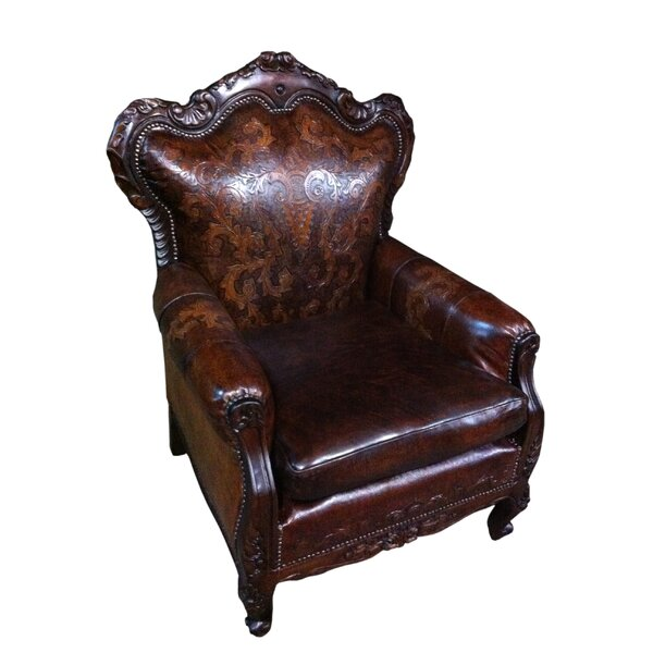 Teresa Leather Club Chair By New World Trading
