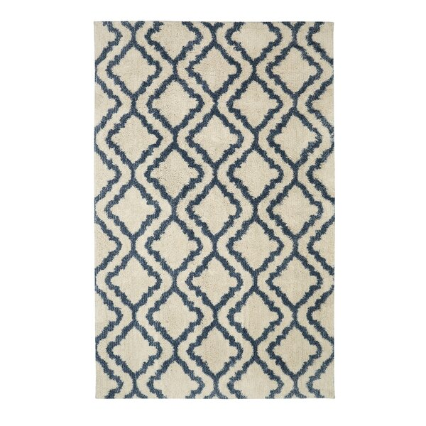 Dumbarton Beige/Blue Area Rug by Alcott Hill