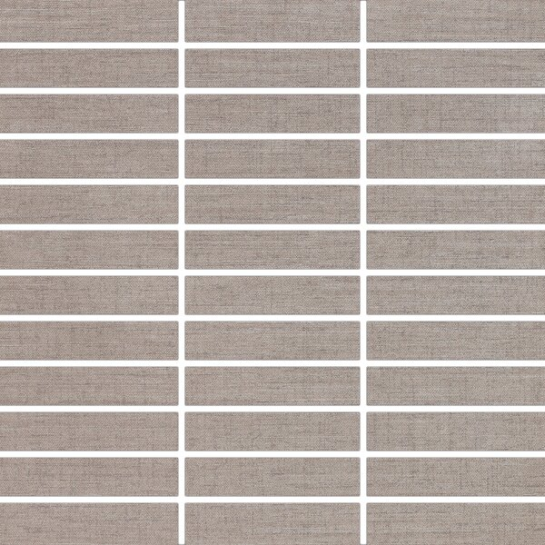 Fabrique 1 x 4 Porcelain Mosaic Tile in Merino by Madrid Ceramics