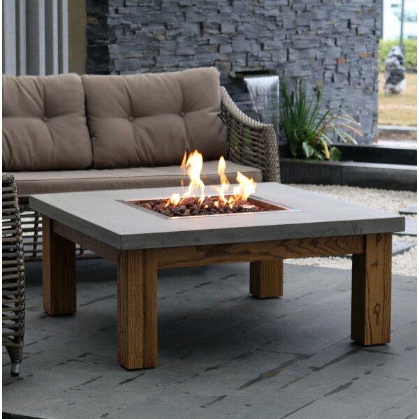 Amish Wood Fire Pit Table by Elementi