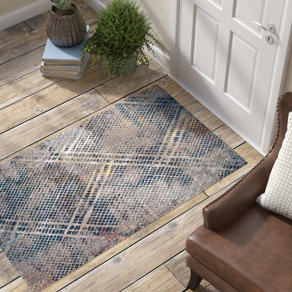 Foresta Abstract Blue/Beige Area Rug by Trent Austin Design