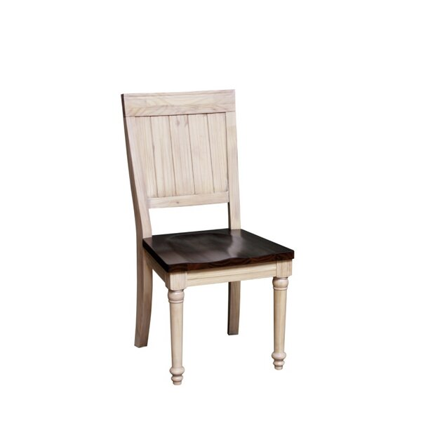 Nyi Solid Wood Dining Chair (Set of 2) by Bayou Breeze