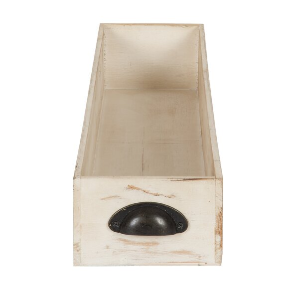 Mcclary Distressed Wood Trough Accent Tray by Gracie Oaks