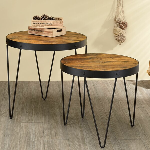 Wilkinson 2 Piece End Table Set by Williston Forge
