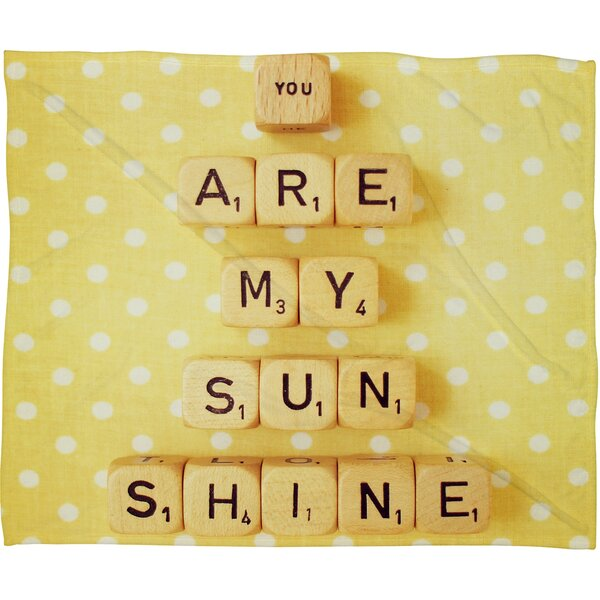 Happee Monkee You Are My Sunshine Throw Blanket by Deny Designs