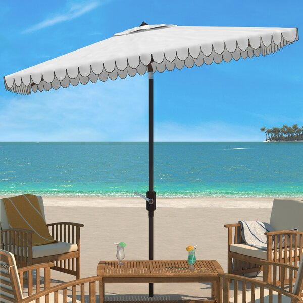 Truet 6.5 X 10 Ft Rect Crank Umbrella by Breakwater Bay