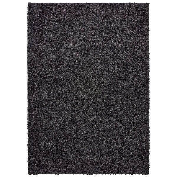 Vanessa Hand-Tufted Black Area Rug by Threadbind