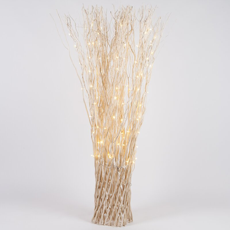 The Holiday Aisle Lighted Free Standing Willow Branches String