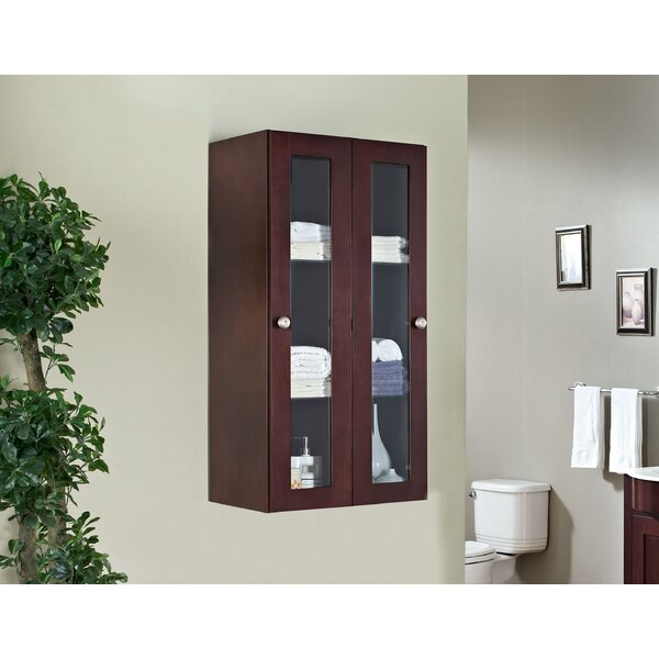 Haakenson Traditional Birch Wood-Veneer 23.5 W x 47.75 H Wall Mounted Cabinet by Red Barrel Studio