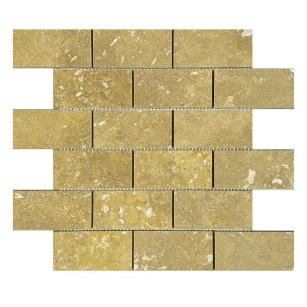 Honed 2 x 4 Natural Stone Mosaic Tile in Noce by QDI Surfaces