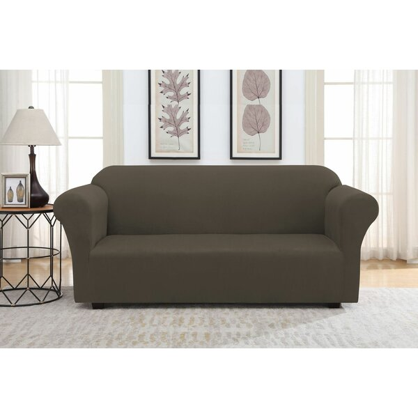 Solid Suede Box Cushion Sofa Slipcover by Winston Porter