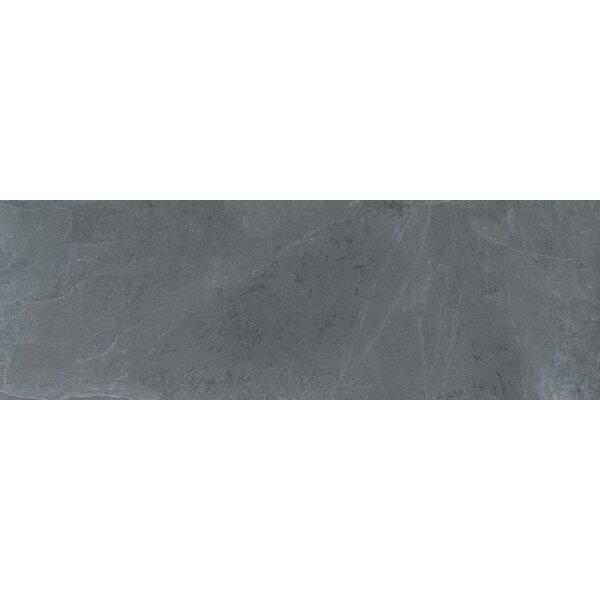 Montauk 4 x 12 Slate Subway Tile in Black by MSI