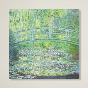 'Waterlily Pond The Bridge' by Claude Monet Painting Print on Canvas by Trademark Fine Art
