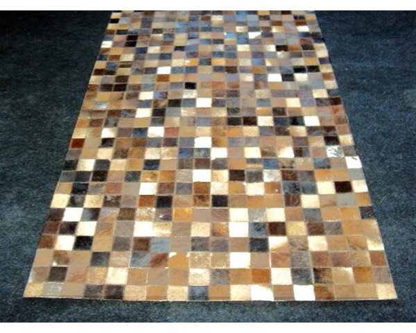 Patchwork Static Brown Area Rug by Modern Rugs