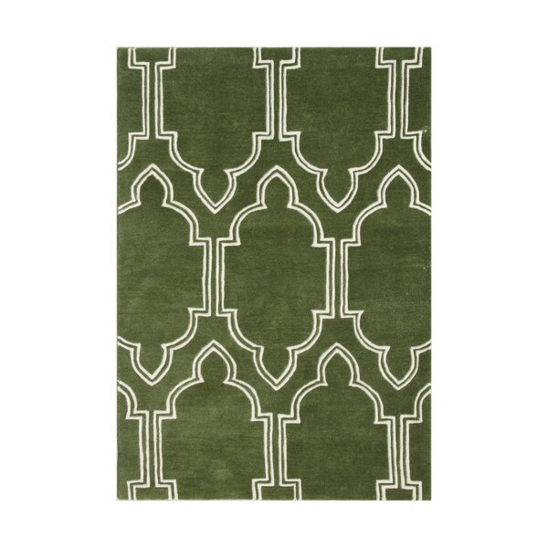 Prineville Hand-Tufted Green Area Rug by The Conestoga Trading Co.