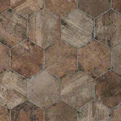 Chicago Brick Hexagon 9 x 11 Porcelain Mosaic Tile in State Street by Tesoro