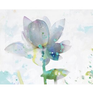 Lotus Horizontal by Leila Painting Print on Wrapped Canvas by Portfolio Canvas Decor