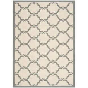 Great choice Plyler Tile Beige/Anthracite Indoor/Outdoor Area Rug By Charlton Home