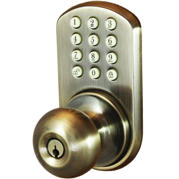 Keyless Electronic Single Cylinder Entrance Knobset by Milocks