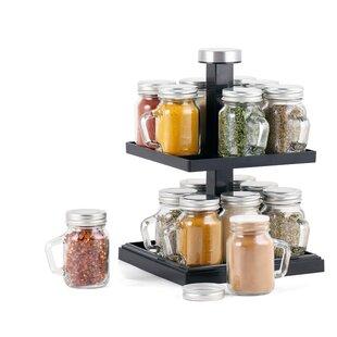 16 Jar Spice Jar U0026 Rack Set