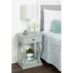 Affordable Price Astoria Farmhouse Chic 1 Drawer Nightstand By August Grove