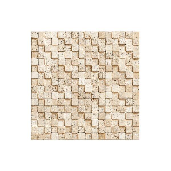 Port 12 x 12 Block Stone Mosaic Tile in Cream by Kellani