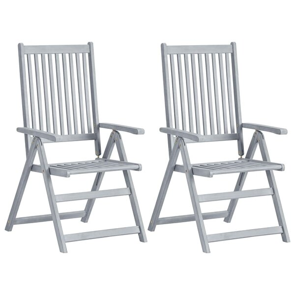 Wani Garden Reclining Folding Patio Dining Chair (Set of 2) by Gracie Oaks